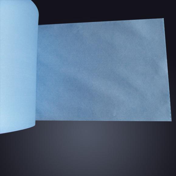 蓝色大卷纸