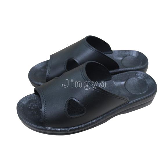 PU防静电黑色二孔拖鞋