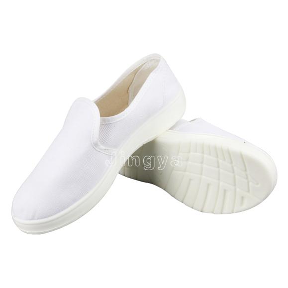 白色帆布中巾鞋
