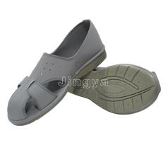 全手工制作 PU灰色皮革四孔防静电鞋