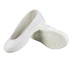 白色皮革浅口鞋