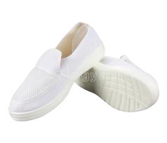 白帆布网眼鞋
