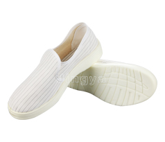 0.5直条纹白帆布中巾鞋